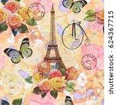 Seamless Paris Travel Wallpape...