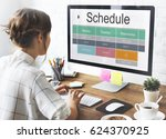 school schedule time table... | Shutterstock . vector #624370925