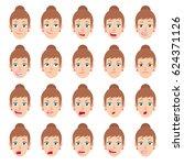 cartoon businesswoman character.... | Shutterstock . vector #624371126