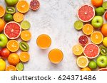 fresh juice vitamin c drink in... | Shutterstock . vector #624371486