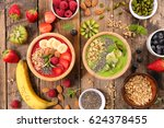 smoothie bowl | Shutterstock . vector #624378455