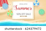 advertising banner sales with... | Shutterstock .eps vector #624379472