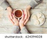 cup drink for breakfast in the... | Shutterstock . vector #624394028