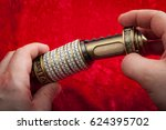 vintage encryption and data... | Shutterstock . vector #624395702