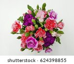 colorful vase of flowers | Shutterstock . vector #624398855