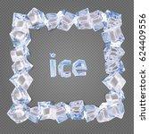 square frame. vector border... | Shutterstock .eps vector #624409556