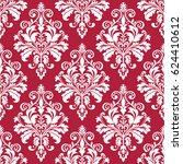 floral pattern. wallpaper... | Shutterstock . vector #624410612