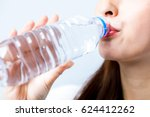 hydration concept. a young... | Shutterstock . vector #624412262