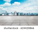 cityscape of modern city from... | Shutterstock . vector #624420866