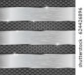 metal perforated background... | Shutterstock . vector #624426896