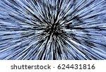hyperspace jump  light speed up ... | Shutterstock .eps vector #624431816