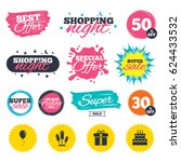 sale shopping banners. special... | Shutterstock .eps vector #624433532