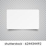 blank horizontal plastic  paper ... | Shutterstock .eps vector #624434492