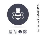 bee sign icon. honeybee or apis ...   Shutterstock .eps vector #624434726
