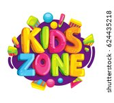 Kids Zone Vector Cartoon Logo....