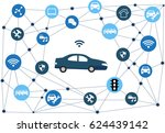 traffic and wireless network ... | Shutterstock .eps vector #624439142