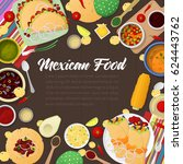 mexican cuisine traditional... | Shutterstock .eps vector #624443762
