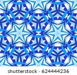 kaleidoscope pattern. seamless... | Shutterstock .eps vector #624444236