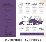 placemat design template vector ... | Shutterstock .eps vector #624445916
