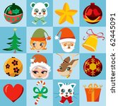 Christmas Many Motifs Icon Set