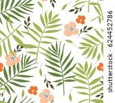 seamless vector floral pattern | Shutterstock . vector #624452786