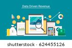 data driven revenue  marketing  ... | Shutterstock .eps vector #624455126