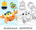 vector cartoon of cute crab the ... | Shutterstock .eps vector #624459416