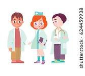 group of children in doctor's...   Shutterstock .eps vector #624459938