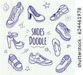 boots sketchy doodle collection.... | Shutterstock . vector #624461978