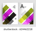 geometrical brochure a4... | Shutterstock .eps vector #624462218