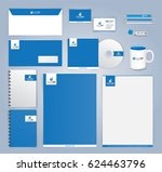 blue and white modern corporate ... | Shutterstock .eps vector #624463796