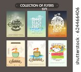 collection of six different... | Shutterstock .eps vector #624466406