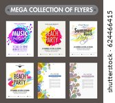 mega collection of six... | Shutterstock .eps vector #624466415