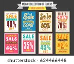 collection of sale and discount ... | Shutterstock .eps vector #624466448
