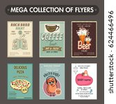 mega collection of six... | Shutterstock .eps vector #624466496