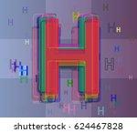 alphabet h idea icon | Shutterstock .eps vector #624467828