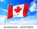 flag of canada developing... | Shutterstock . vector #624472826