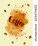 coffee related illustration... | Shutterstock .eps vector #624474602