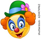 clown emoticon | Shutterstock .eps vector #624474962