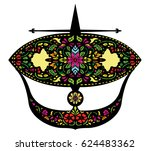 kite wau bulan color   Shutterstock .eps vector #624483362