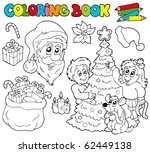 coloring book with christmas... | Shutterstock .eps vector #62449138