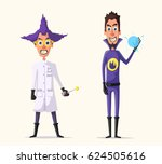 crazy villains. cartoon vector... | Shutterstock .eps vector #624505616