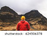 Man Standing In Mountains In...