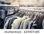 fashion beautiful clothes hang... | Shutterstock . vector #624507185