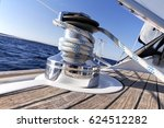 Winch On A Sailboat While...