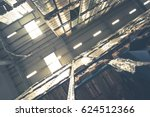 interior of modern warehouse... | Shutterstock . vector #624512366
