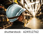 modern warehouse worker in... | Shutterstock . vector #624512762