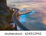aerial view of bridge along... | Shutterstock . vector #624512942