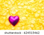 Pink Heart On A Pile Of Yellow...