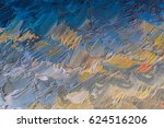 colorful oil paint on canvas... | Shutterstock . vector #624516206